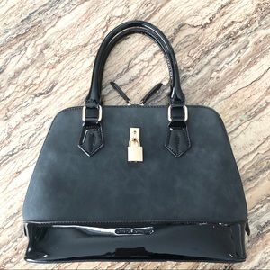 Vegan Suede & Patent , David Jones Handbag